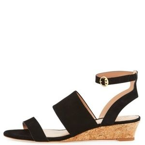 Tory Burch Lancaster Suede North Wedge Sandal
